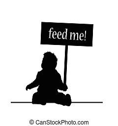 alimentation, bébé, vecteur