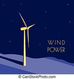 alimentazione vento, generatore