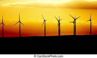 alimentez générateur, turbine, twilight., chypre, vent
