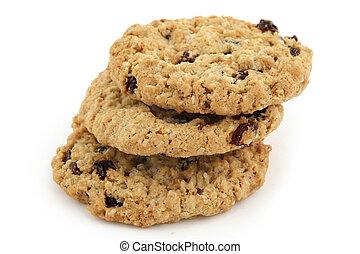 alimento, 011, biscoitos, três