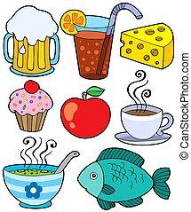 alimento, 1, bebida, colección