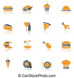 alimento, 1, parte, -, ícones