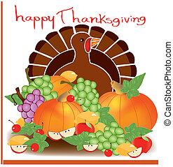 alimento, 2, acción de gracias, día