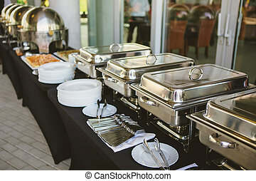 alimento, abastecimiento, boda