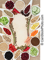 alimento, abstratos, borda, dieta