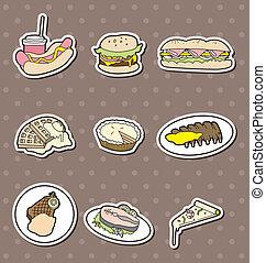 alimento, adesivos, rapidamente
