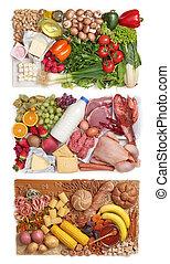 alimento agrupa, combinar