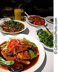 alimento, asiático