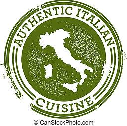 alimento, autêntico, italiano