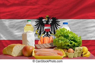 alimento, bandera nacional, austria, comestibles, básico, ...