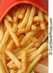 alimento, batatas fritas