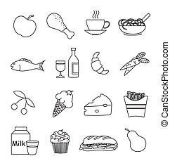 alimento bebida, ícones