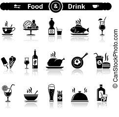 alimento & bebida, ícones