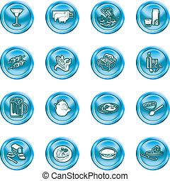 alimento, bebida, ícones