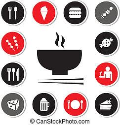 alimento, bebida, icono