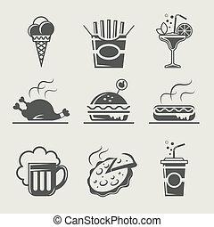 alimento, bebida, rápido