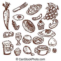 alimento, bosquejo