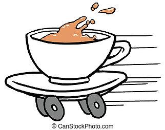 alimento, café, rápido