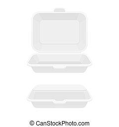 alimento, caixa, recipiente, rapidamente