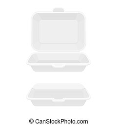 alimento, caja, contenedor, rápido