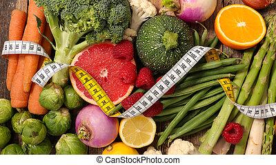 alimento, caloria, saúde, baixo