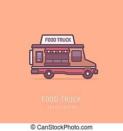 alimento, camión