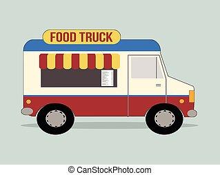 alimento, caminhão