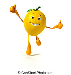 alimento, carácter, -, limón