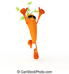 alimento, carácter, zanahoria, -