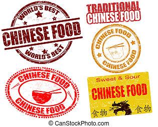 alimento chinês, selos