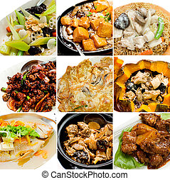 alimento, cobrança, chinês, asiático