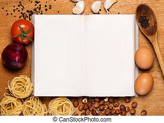 alimento, cocina, libro, kitchen.