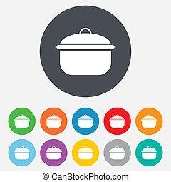 alimento, cocina, símbolo., señal, divieso, icon., o, ...