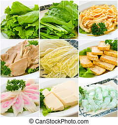 alimento, collection., steamboat, chinês
