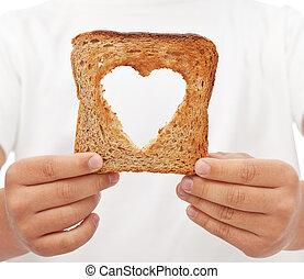alimento, compartir, amor