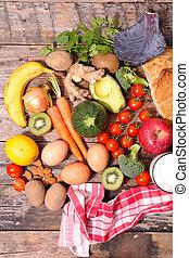 alimento, conceito, dieta