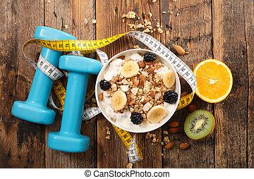 alimento, concepto, salud