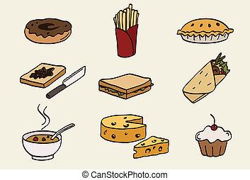 alimento, conjunto