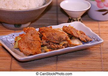 alimento, coreano, 2