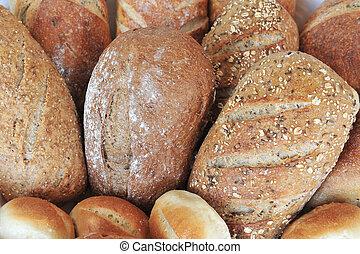 alimento, cozinha, -, pão