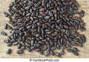 alimento, cru, cacao