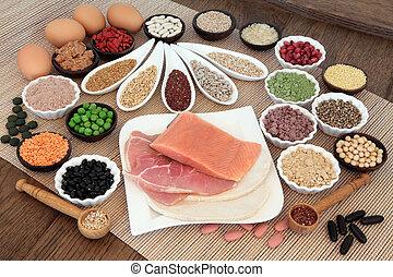 alimento, cuerpo, dieta, edificio