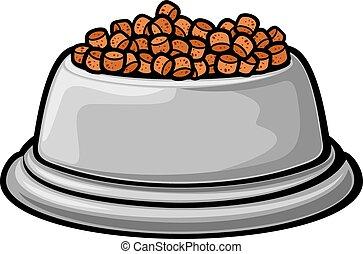 alimento de animal doméstico, bowl.eps