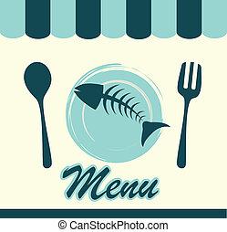 alimento de mar, menú
