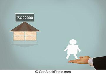 alimento, dirección, seguridad, iso22000, specifying