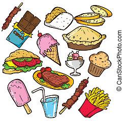 alimento, doodle, tranqueira
