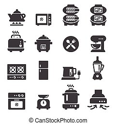alimento, eléctrico, icono