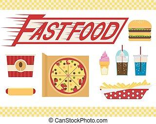 alimento, elementos, rapidamente