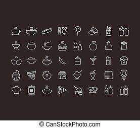 alimento, esboço, ícone
