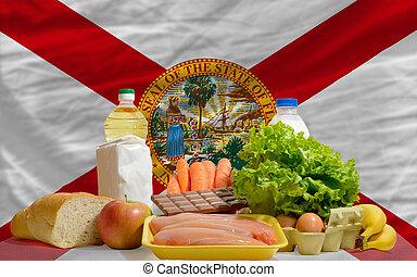 alimento, estado de florida, bandera de los e.e.u.u,...